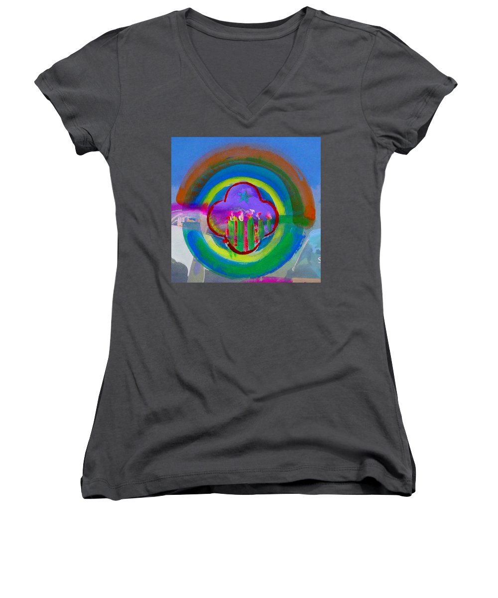 Love Women's V-Neck (Athletic Fit) featuring the painting American Spring by Charles Stuart