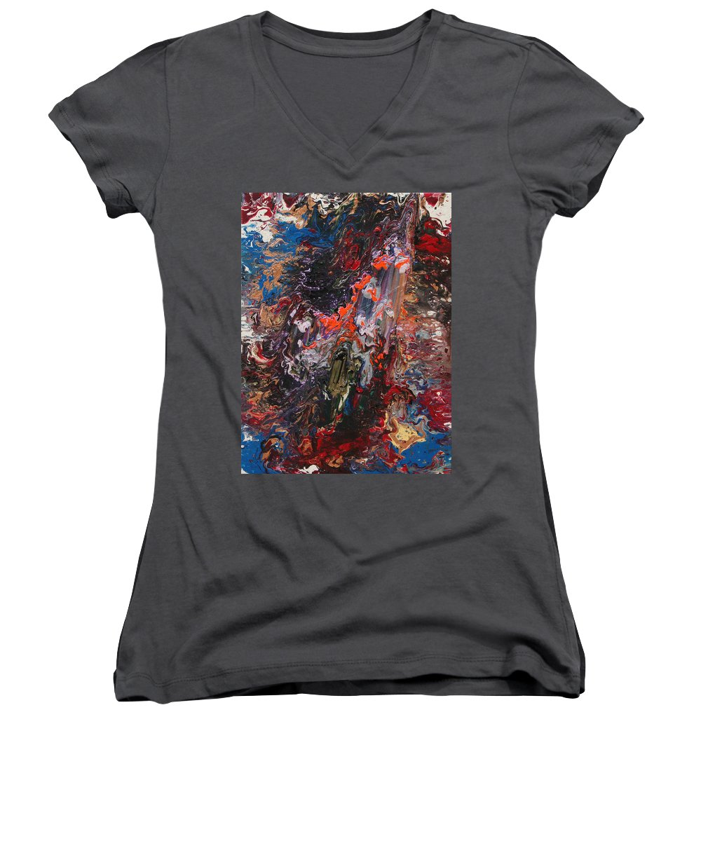 Fusionart Women's V-Neck (Athletic Fit) featuring the painting Angel Rising by Ralph White