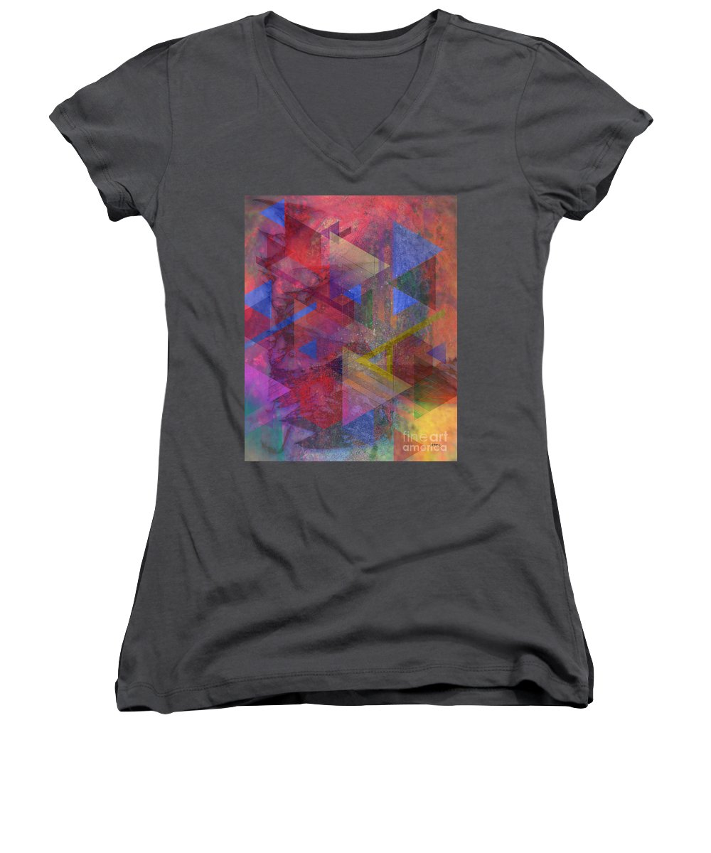 Another Time Women's V-Neck T-Shirt featuring the digital art Another Time by John Beck