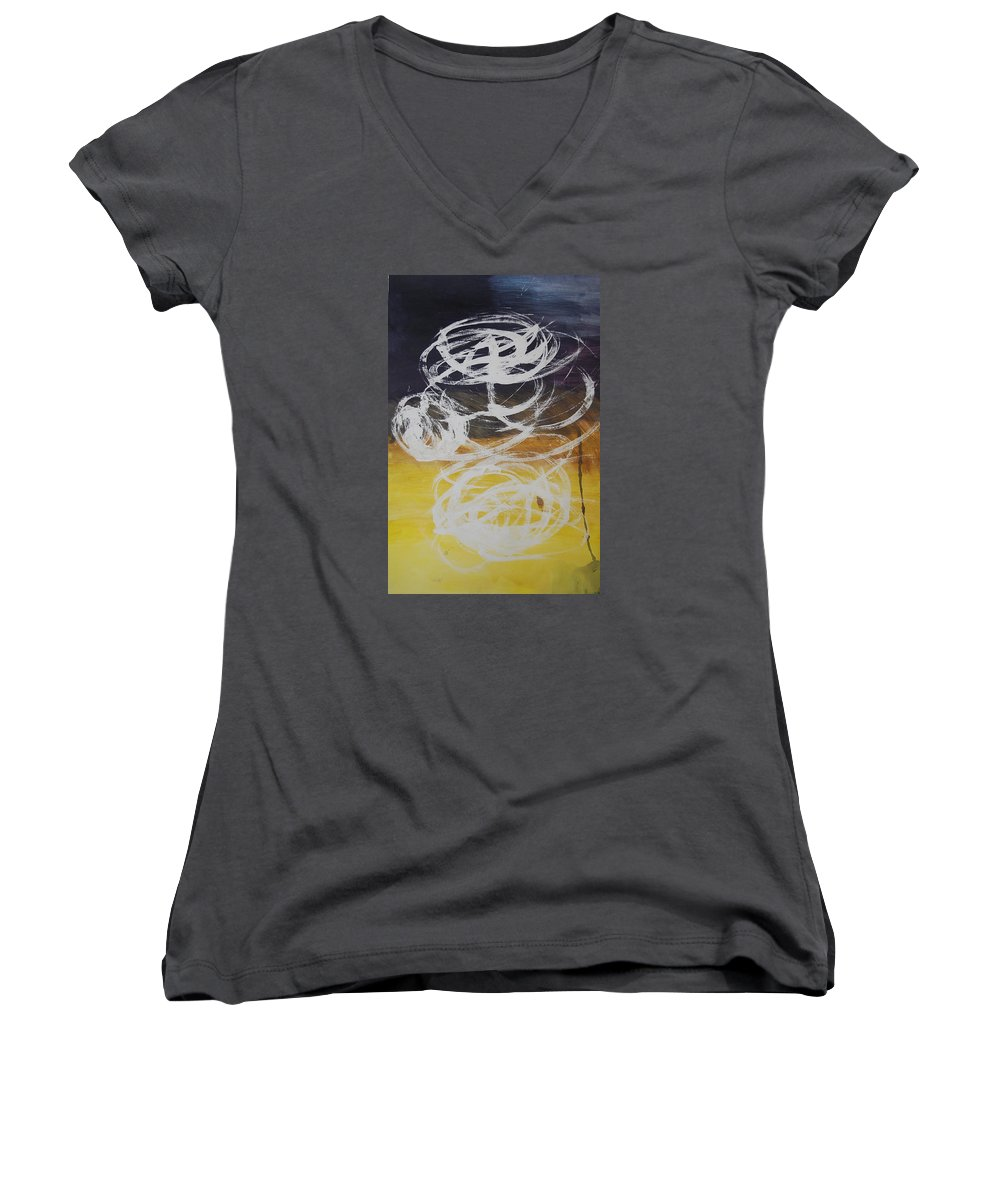 Learning Women's V-Neck (Athletic Fit) featuring the painting Aprendiendo by Lauren Luna
