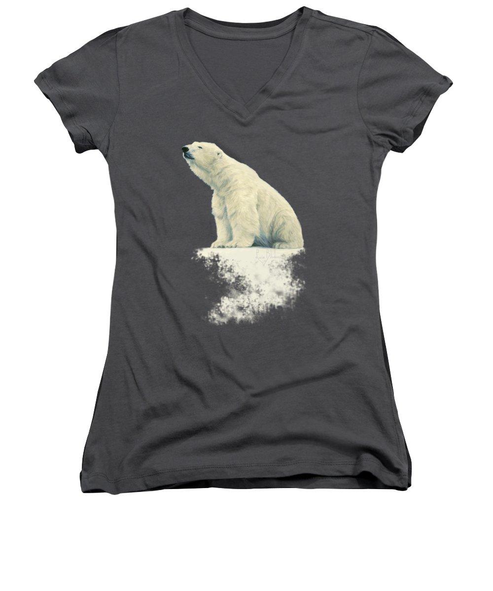 Bear Women's V-Neck T-Shirts