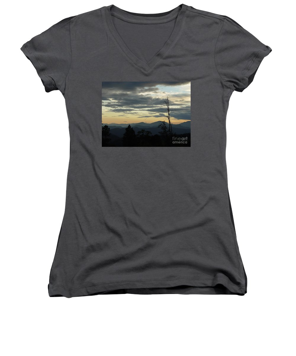 Atmospheric Women's V-Neck (Athletic Fit) featuring the photograph Atmospheric Perspective by Peter Piatt