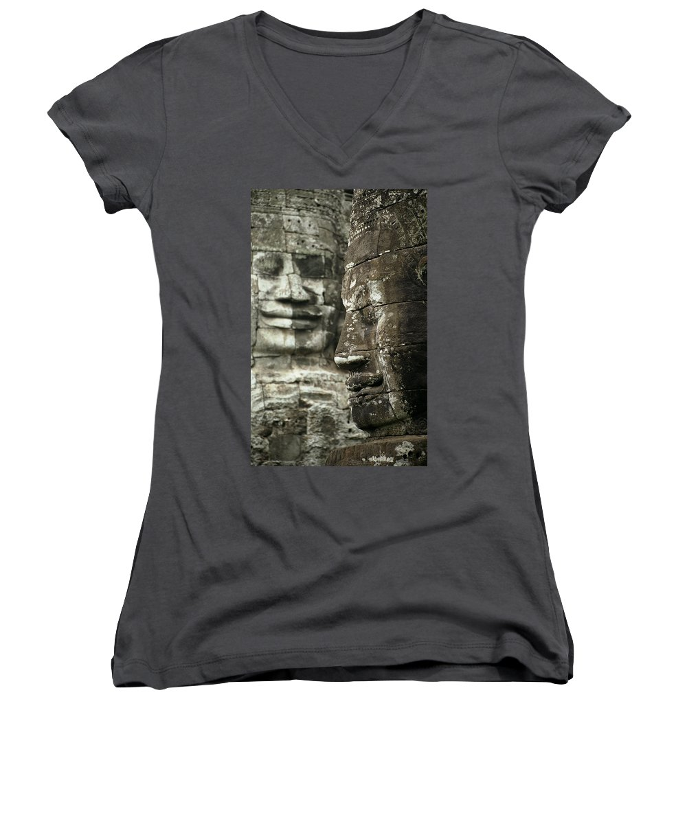 Bayon Women's V-Neck (Athletic Fit) featuring the photograph Bayonii by Patrick Klauss