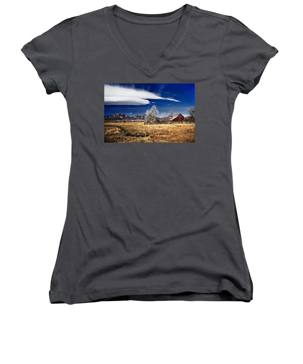 Colorado Women's V-Neck T-Shirt featuring the photograph Beautiful Colorado by Marilyn Hunt
