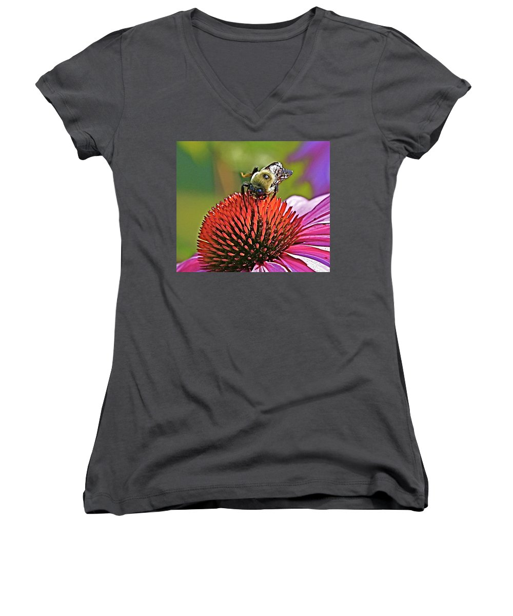 Bee Women's V-Neck (Athletic Fit) featuring the photograph Beware by Robert Pearson