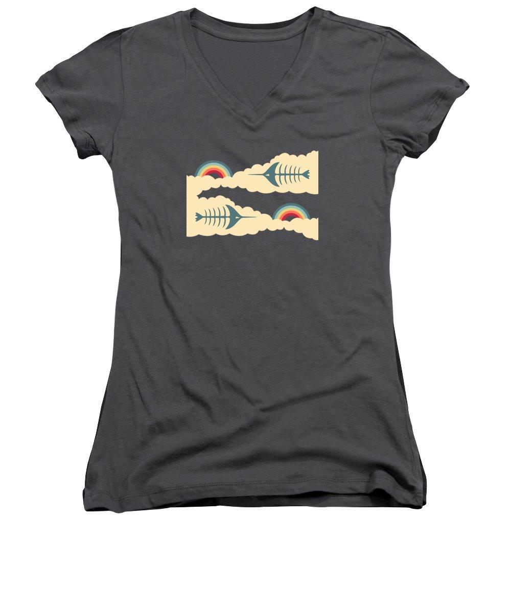 Swordfish Women's V-Neck T-Shirts