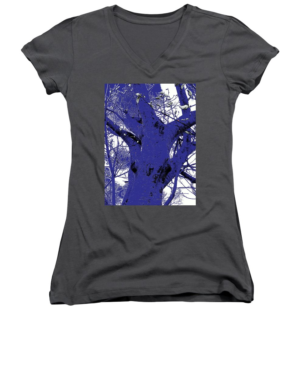 Landscape Women's V-Neck (Athletic Fit) featuring the photograph Blue Ice by Ed Smith