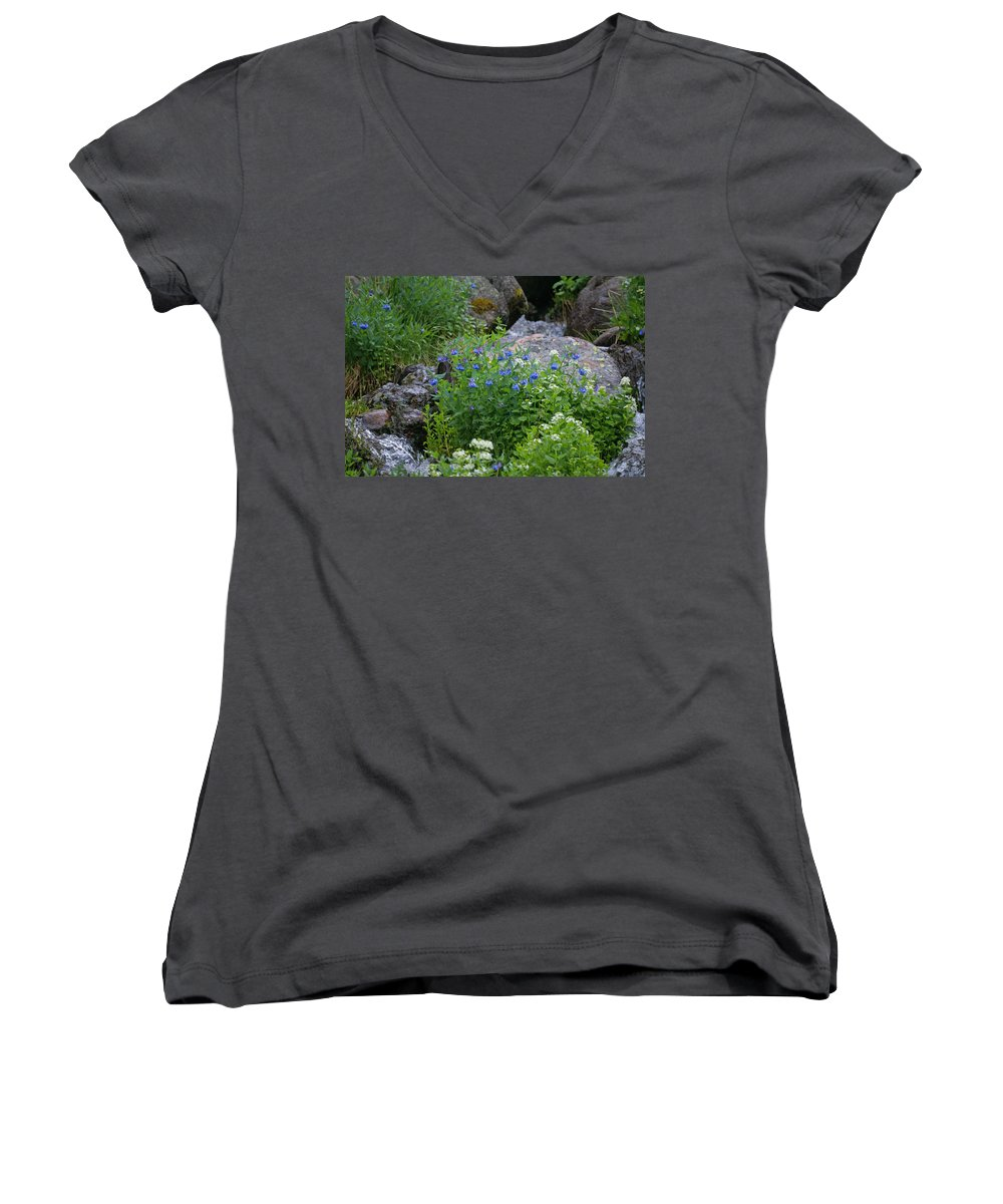 Wildflowers Women's V-Neck (Athletic Fit) featuring the photograph Bluebells by Heather Coen