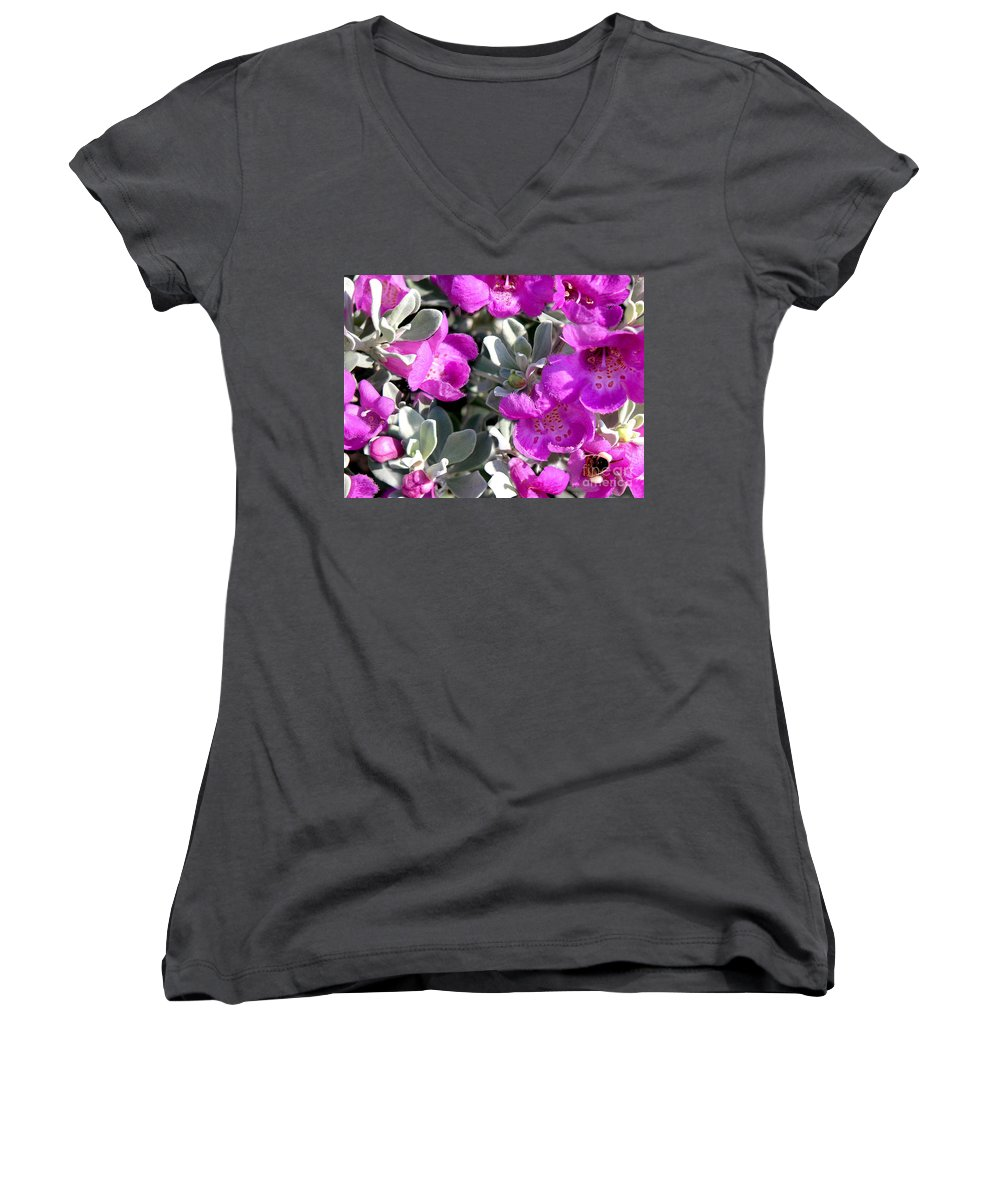 Nature Women's V-Neck (Athletic Fit) featuring the photograph Bottoms Up by Lucyna A M Green