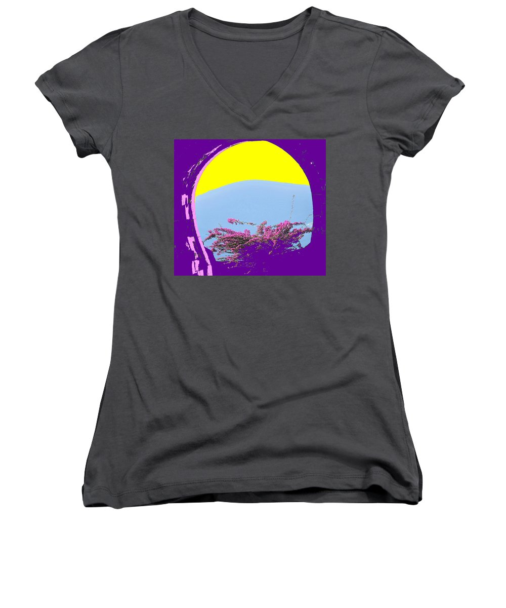 Brimstone Women's V-Neck (Athletic Fit) featuring the photograph Brimstone Gate by Ian MacDonald