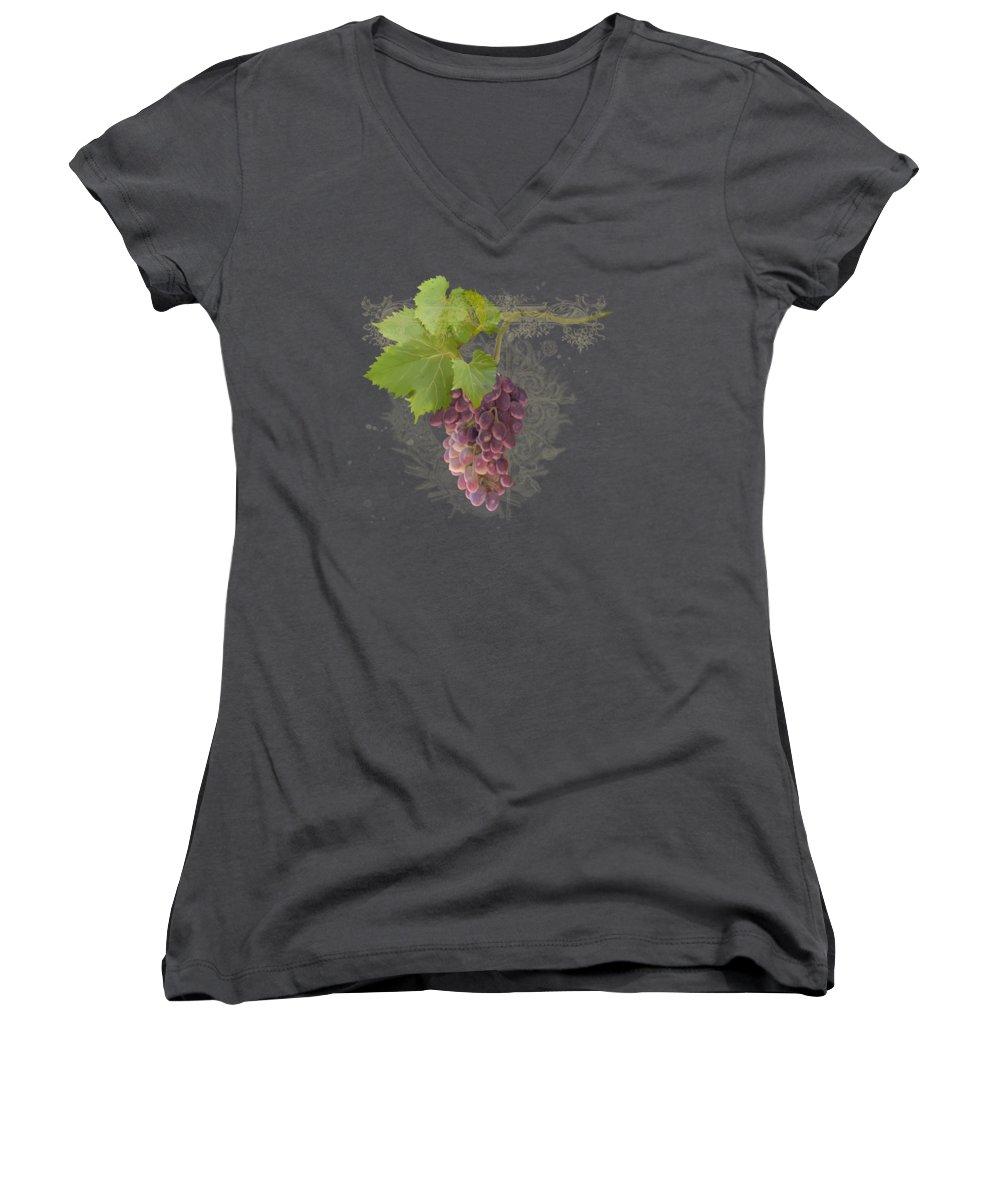 Grape Junior V-Neck T-Shirts