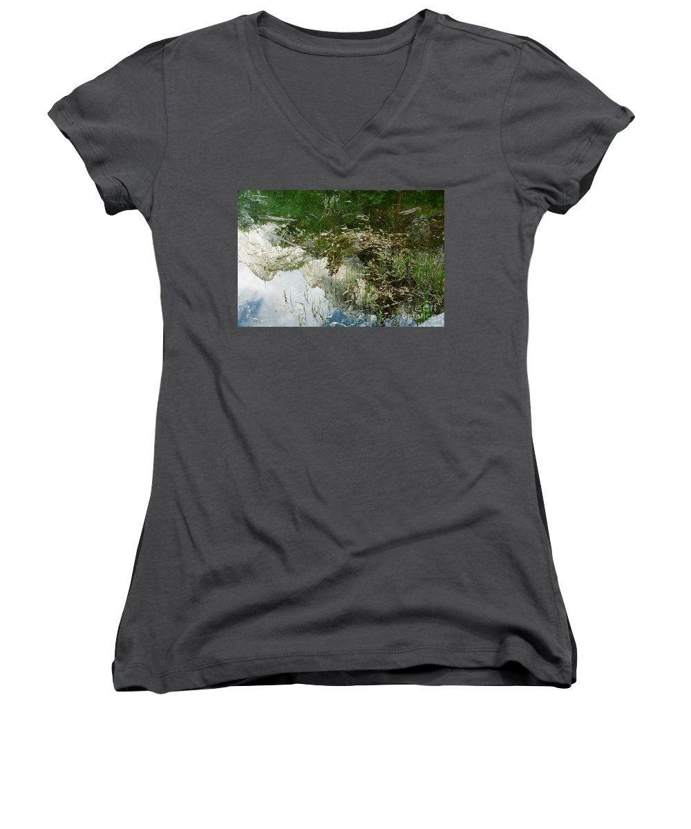 Mirror Lake Women's V-Neck (Athletic Fit) featuring the photograph Confusion by Kathy McClure
