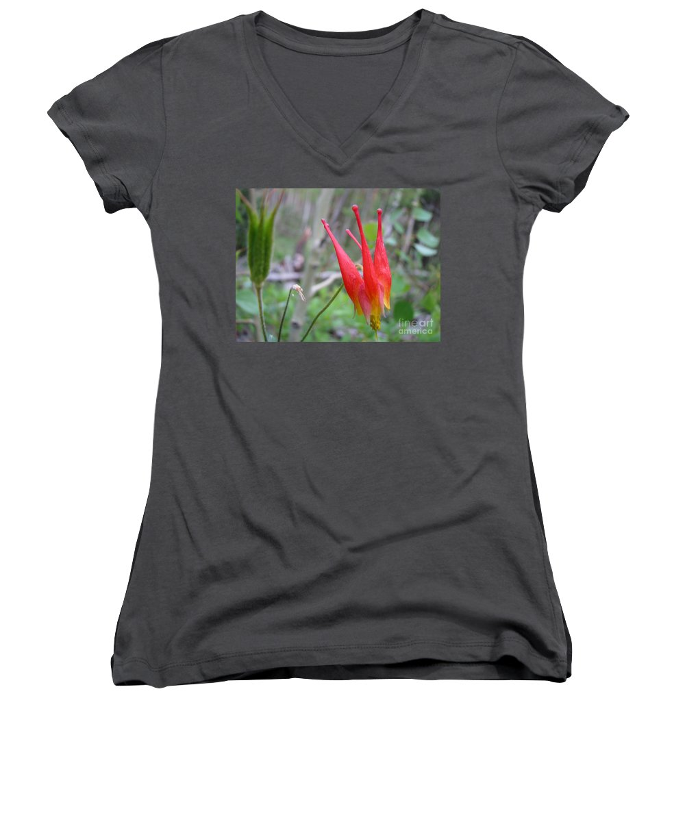 Flowers Of Colorado Women's V-Neck (Athletic Fit) featuring the photograph Crown by Amanda Barcon