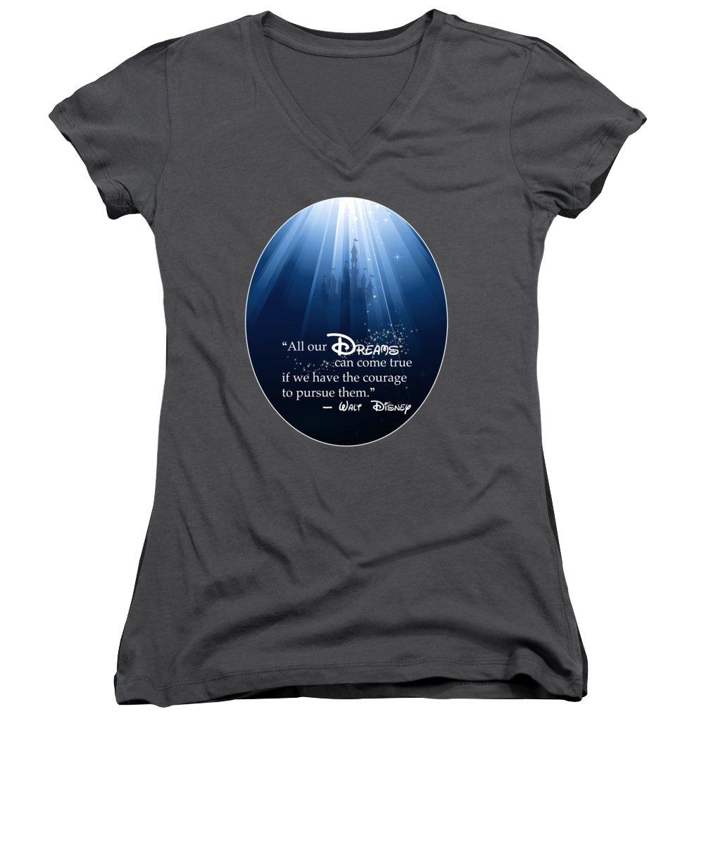 Castle Women's V-Neck T-Shirts