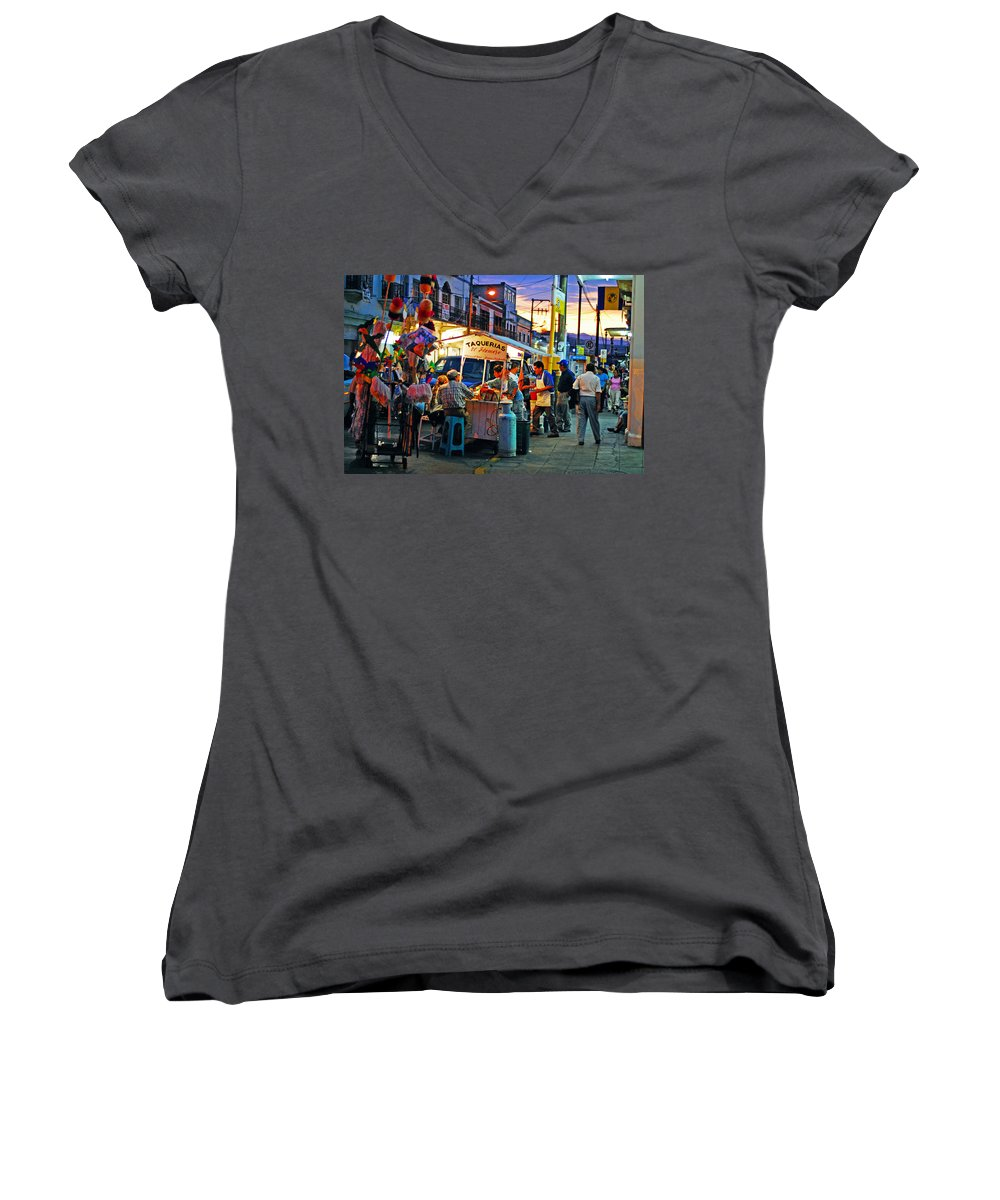 Skip Hunt Women's V-Neck (Athletic Fit) featuring the photograph El Flamazo by Skip Hunt