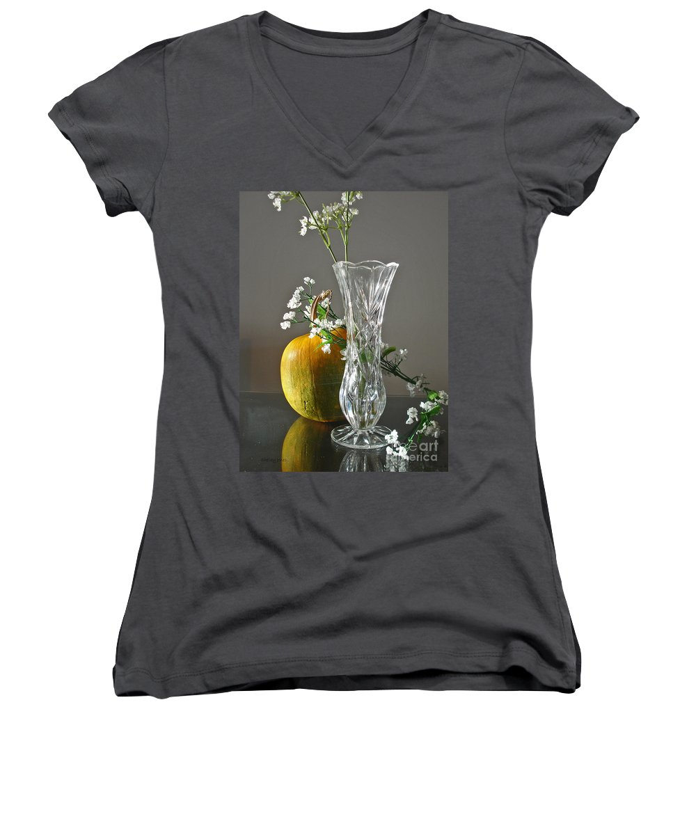 Still Life Women's V-Neck (Athletic Fit) featuring the photograph Everlasting Harvest by Shelley Jones