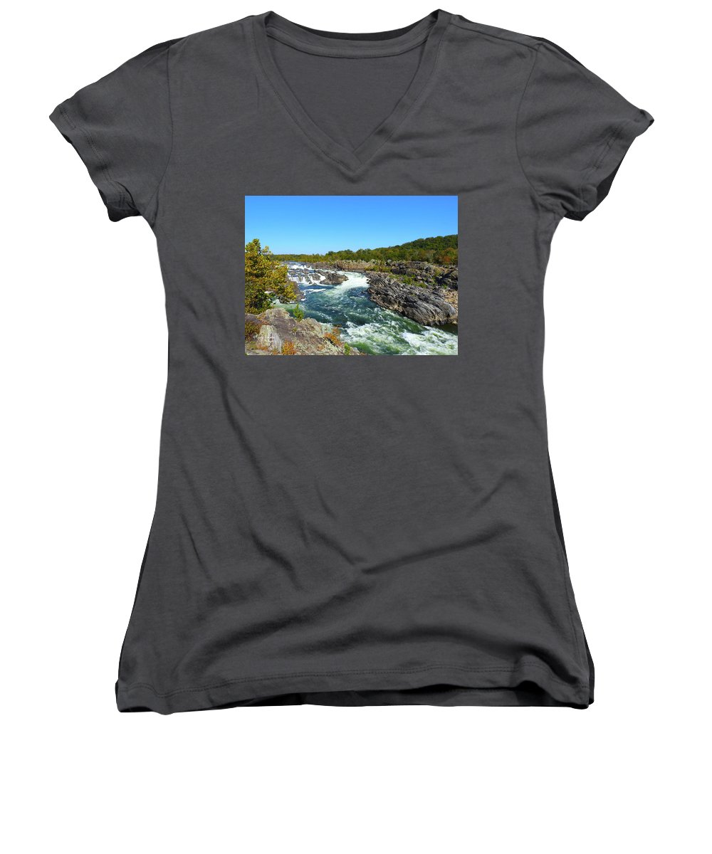 Women's V-Neck featuring the photograph Fall Colors by Tony Umana