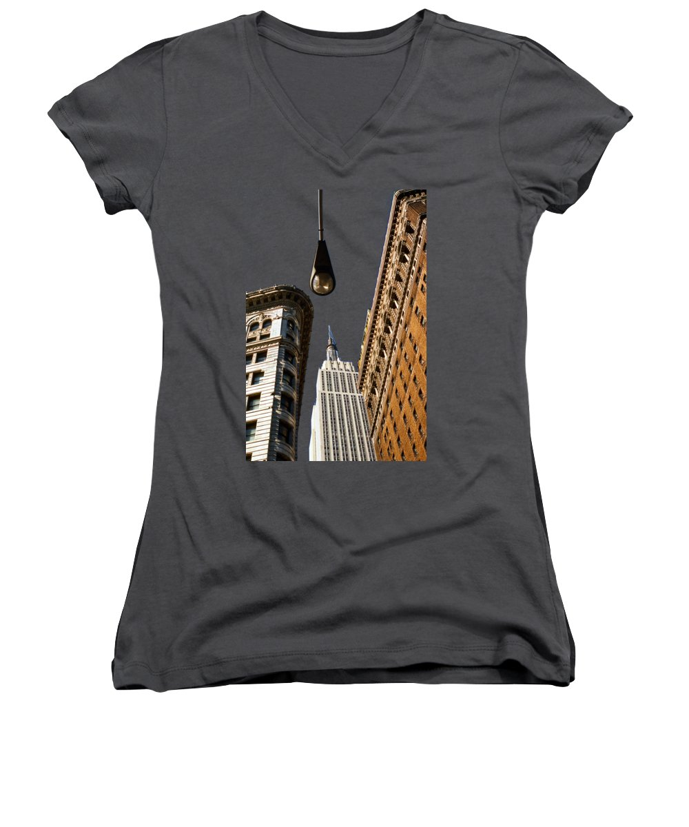 New York City Skyline Women's V-Neck T-Shirts