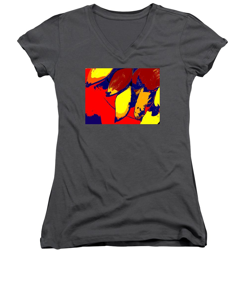 Red Women's V-Neck T-Shirt featuring the photograph Forbidden Fruit by Ian MacDonald