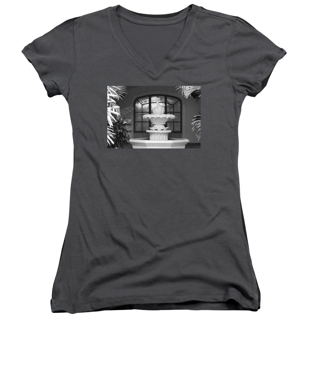 Architecture Women's V-Neck (Athletic Fit) featuring the photograph Fountian And Window by Rob Hans