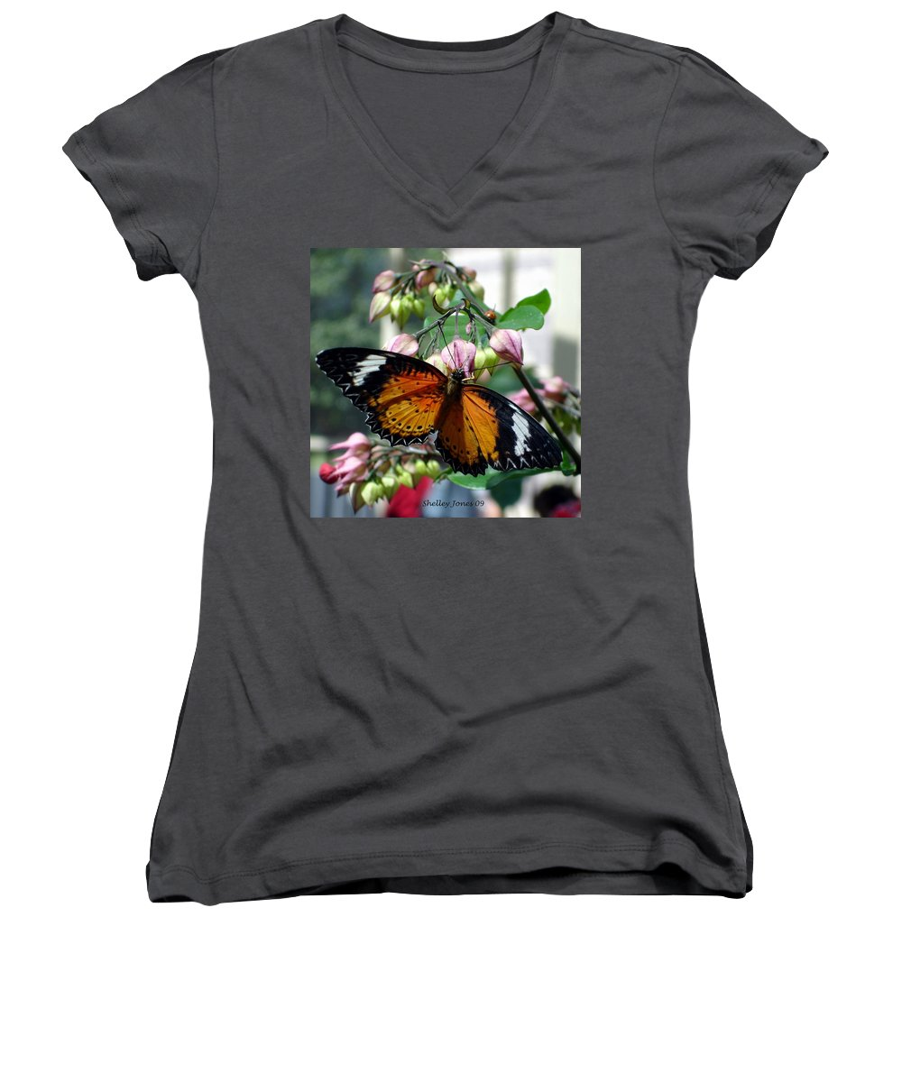 Photography Women's V-Neck (Athletic Fit) featuring the photograph Friends Come In Small Packages by Shelley Jones