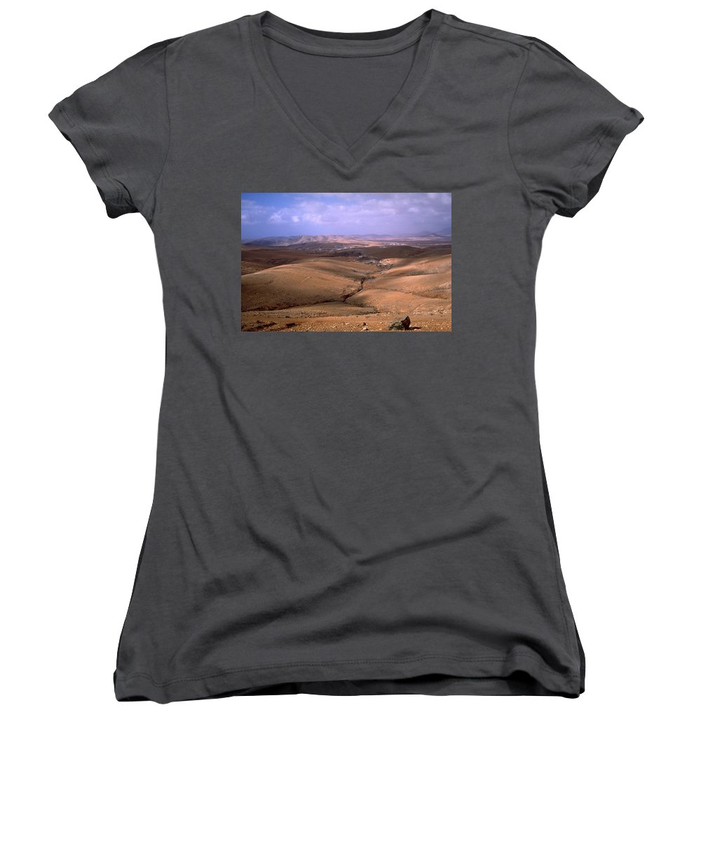 Fuerteventura Women's V-Neck (Athletic Fit) featuring the photograph Fuerteventura I by Flavia Westerwelle