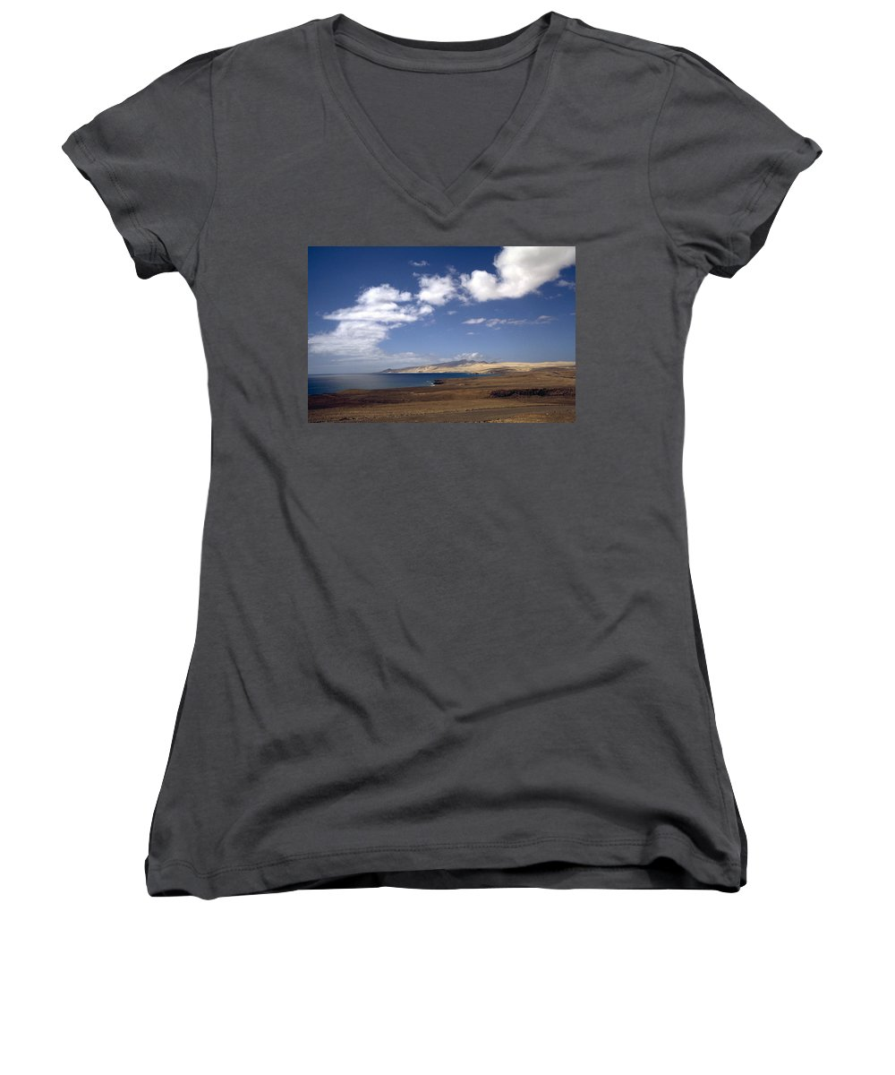 Fuerteventura Women's V-Neck (Athletic Fit) featuring the photograph Fuerteventura II by Flavia Westerwelle