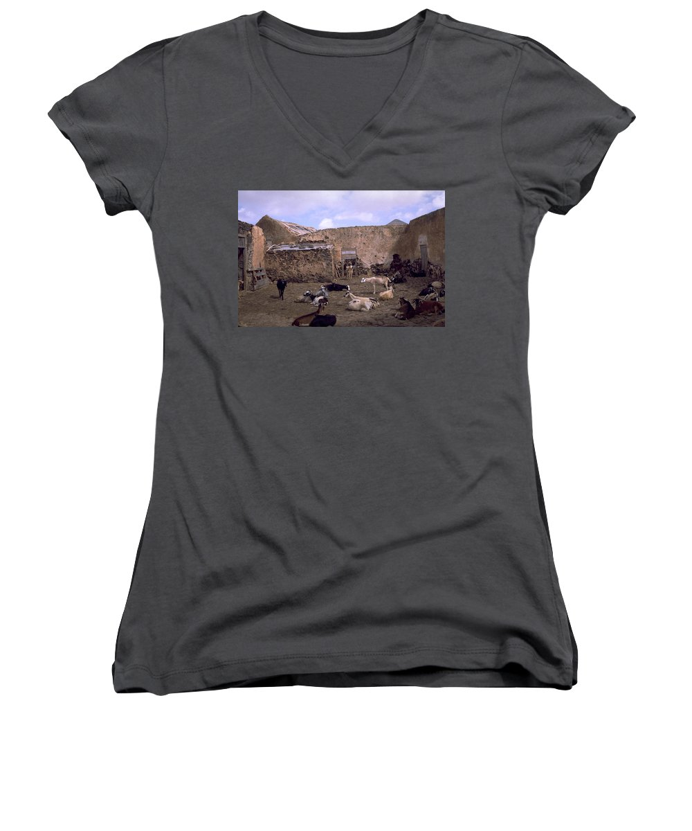 Fuerteventura Women's V-Neck (Athletic Fit) featuring the photograph Fuerteventura IIi by Flavia Westerwelle