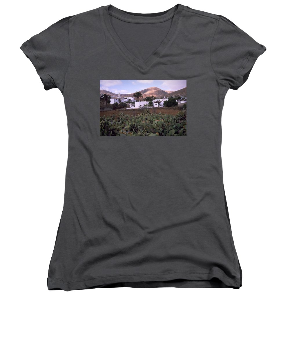 Fuerteventura Women's V-Neck (Athletic Fit) featuring the photograph Fuerteventura Iv by Flavia Westerwelle