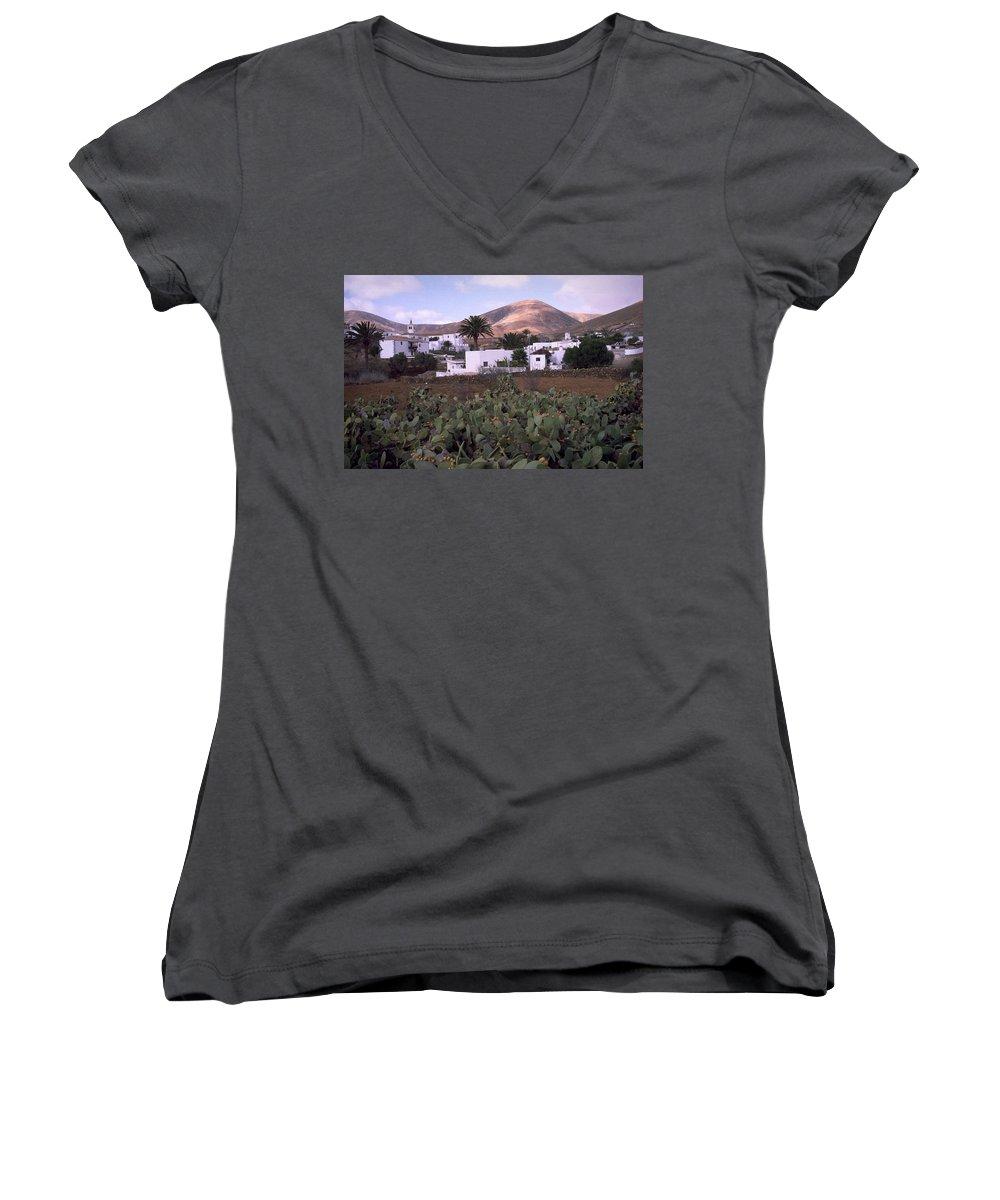 Fuerteventura Women's V-Neck T-Shirt featuring the photograph Fuerteventura Iv by Flavia Westerwelle