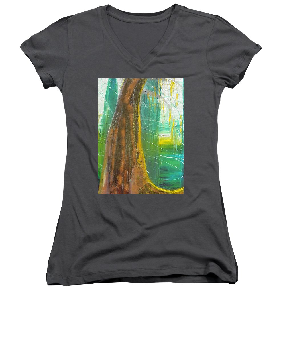 Landscape Women's V-Neck (Athletic Fit) featuring the painting Georgia Morning by Peggy Blood