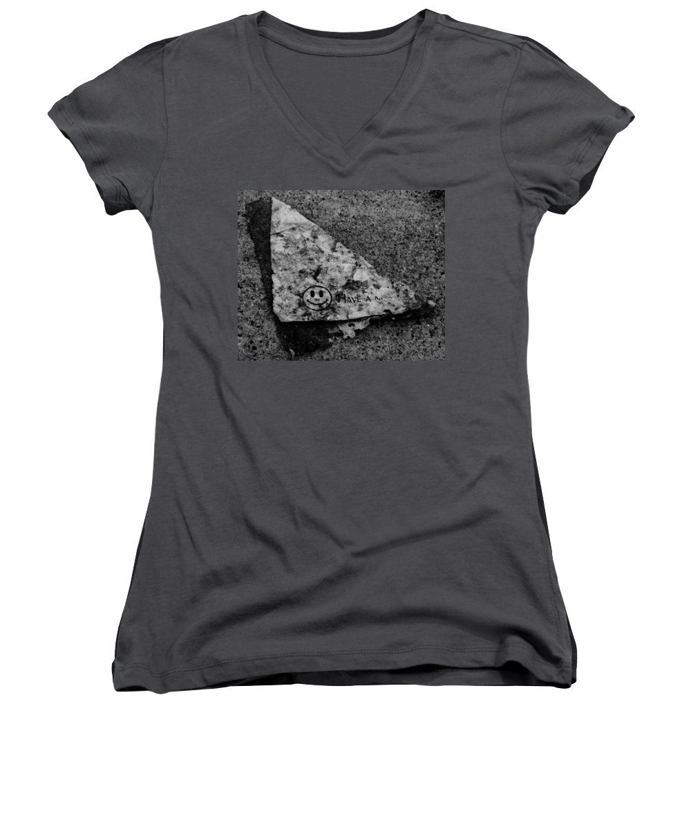 Debris Women's V-Neck T-Shirt featuring the photograph Have A Nice Day by Angus Hooper Iii