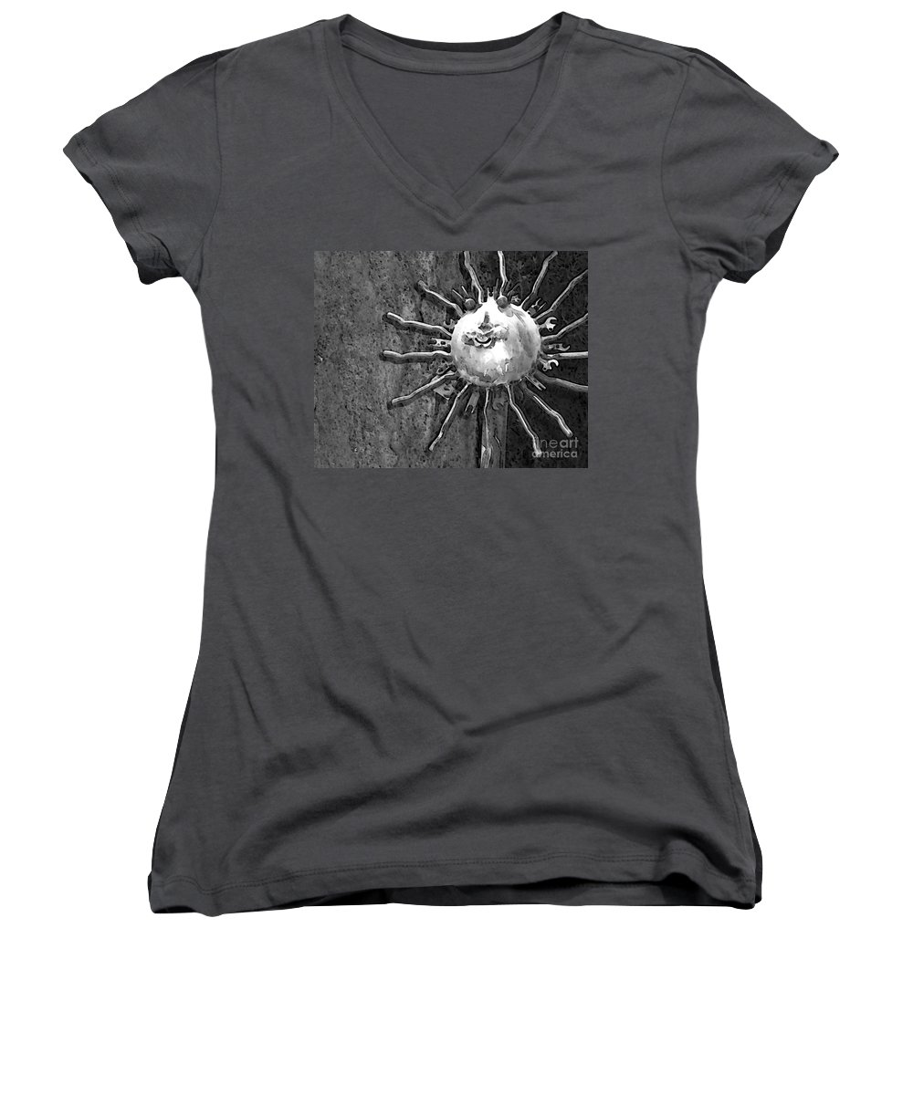 Sun Women's V-Neck (Athletic Fit) featuring the photograph Here Comes The Sun by Debbi Granruth