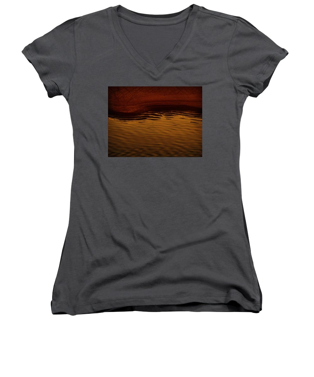 Abstract Women's V-Neck T-Shirt featuring the photograph I Want To Wake Up Where You Are by Dana DiPasquale
