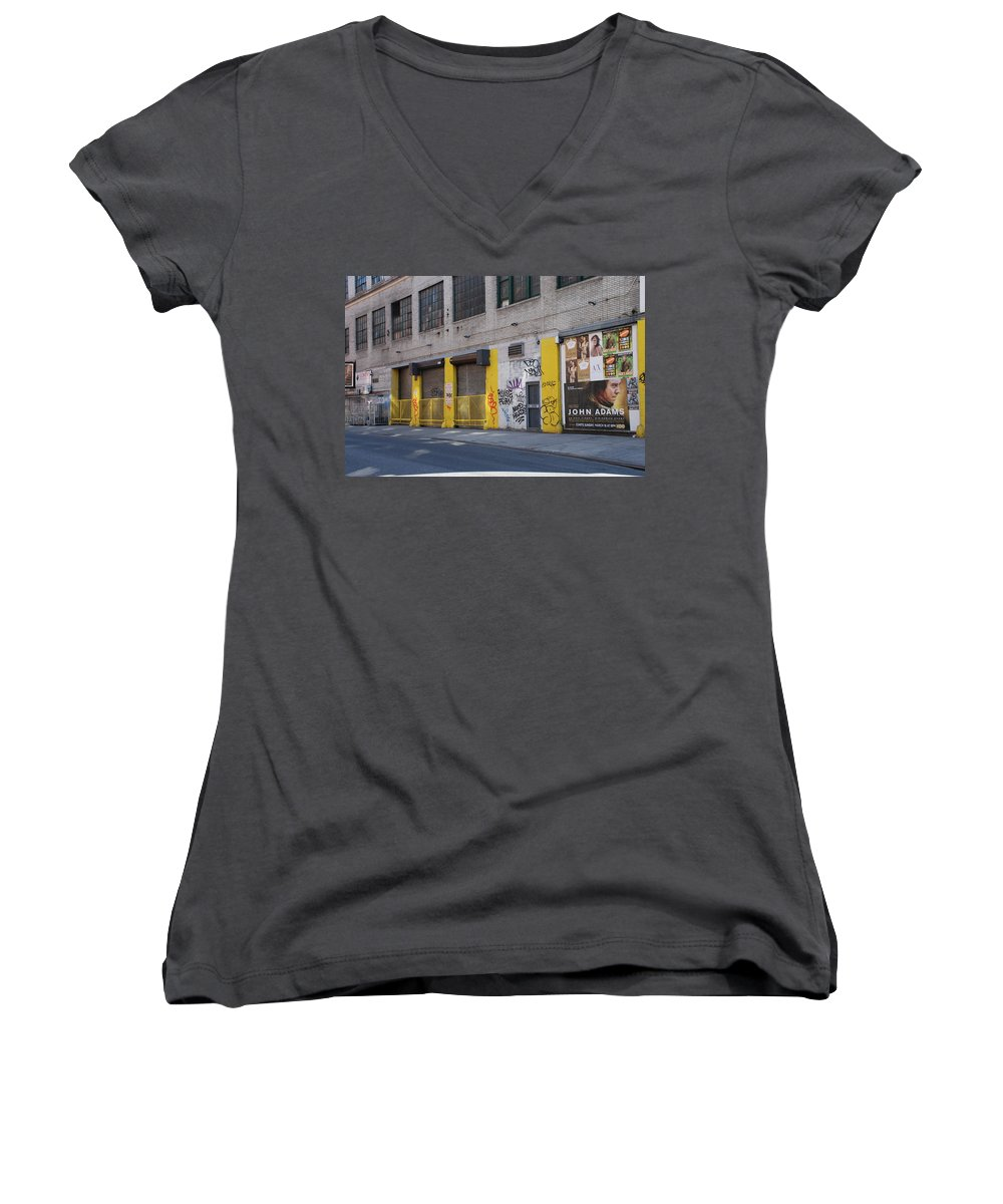 Architecture Women's V-Neck T-Shirt featuring the photograph John Adams by Rob Hans