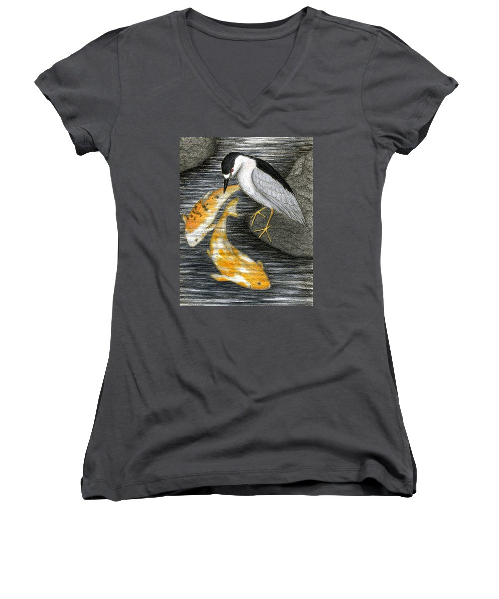 Art Women's V-Neck T-Shirt featuring the painting Keep Dreaming by Don McMahon
