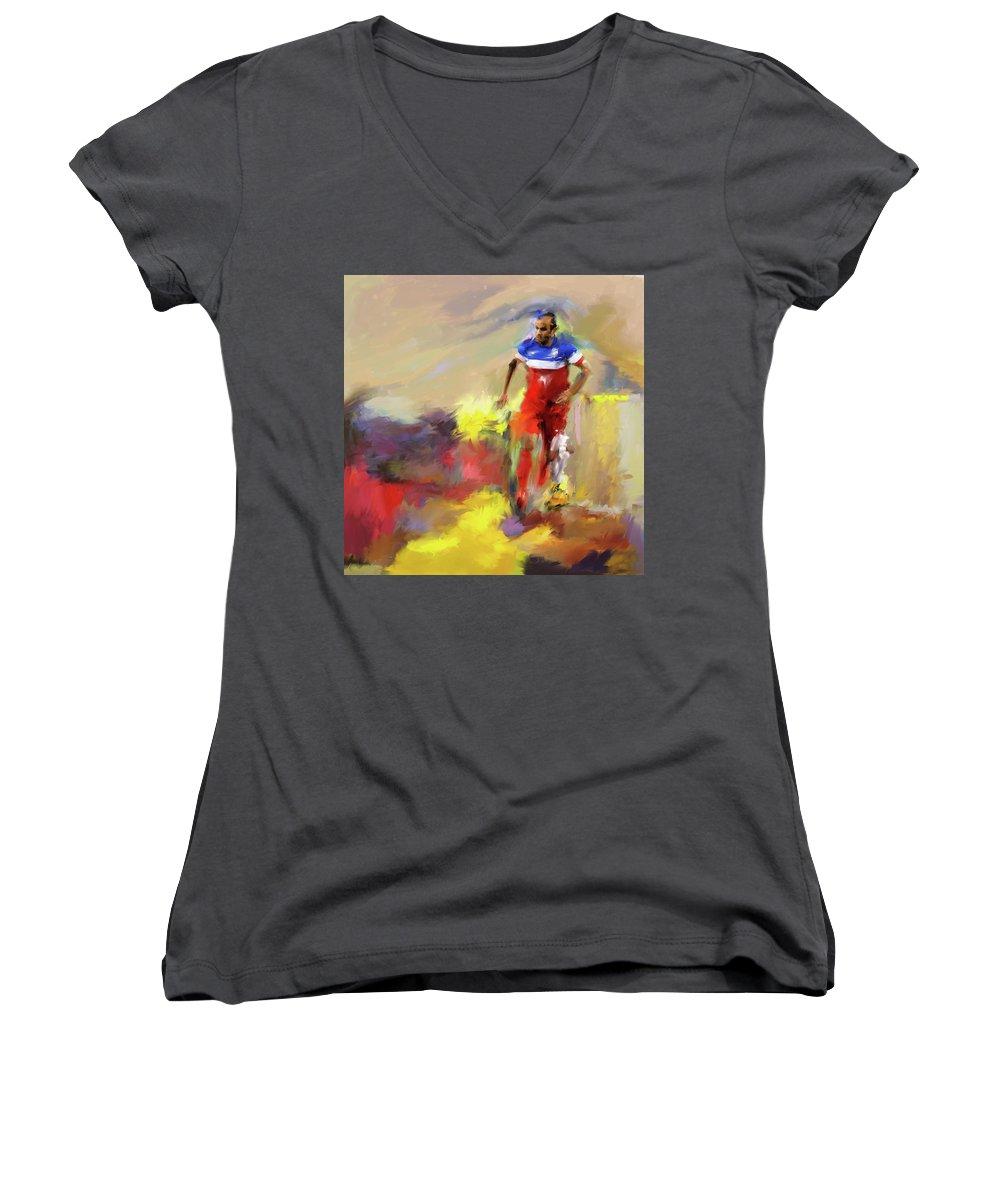 Landon Donovan Junior V-Neck T-Shirts