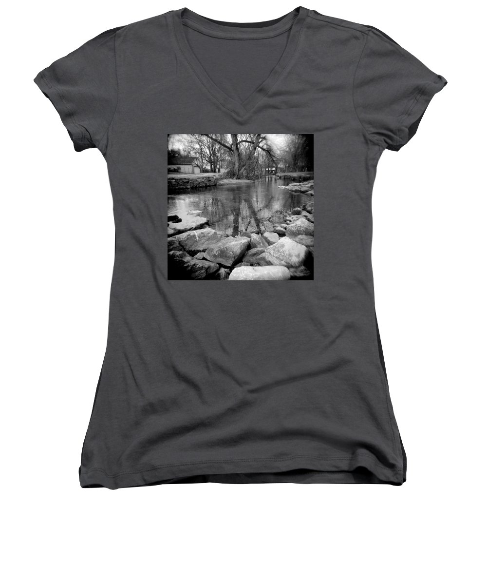 Photograph Women's V-Neck (Athletic Fit) featuring the photograph Le Tort Reflection by Jean Macaluso