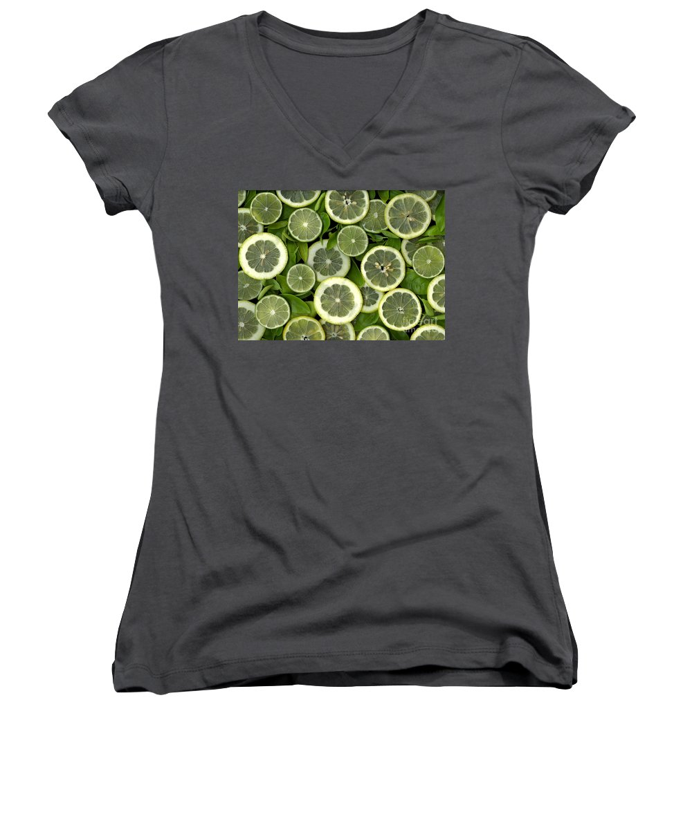 Scanography. Slanec Women's V-Neck (Athletic Fit) featuring the photograph Limons by Christian Slanec