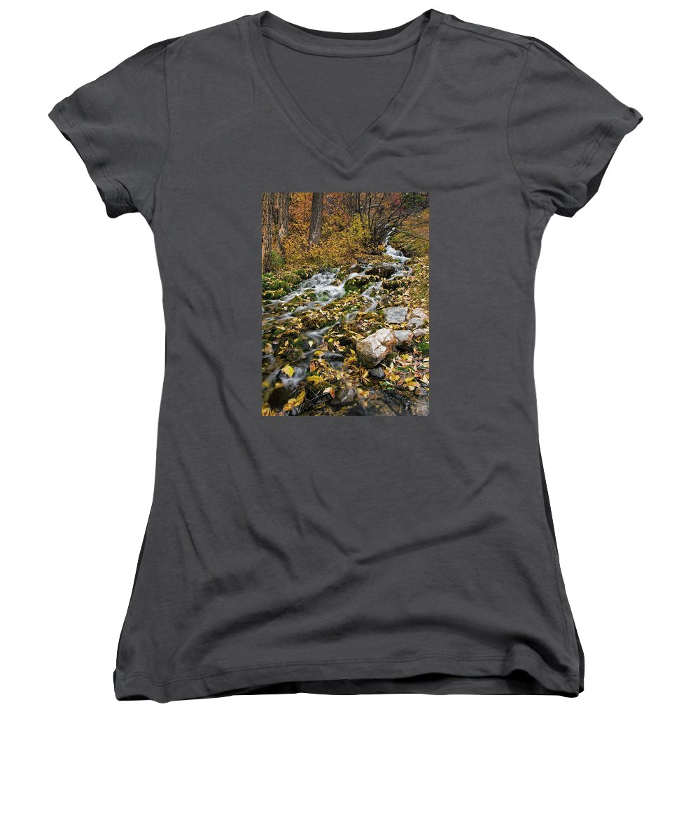 Water Women's V-Neck featuring the photograph Little Creek by Scott Read