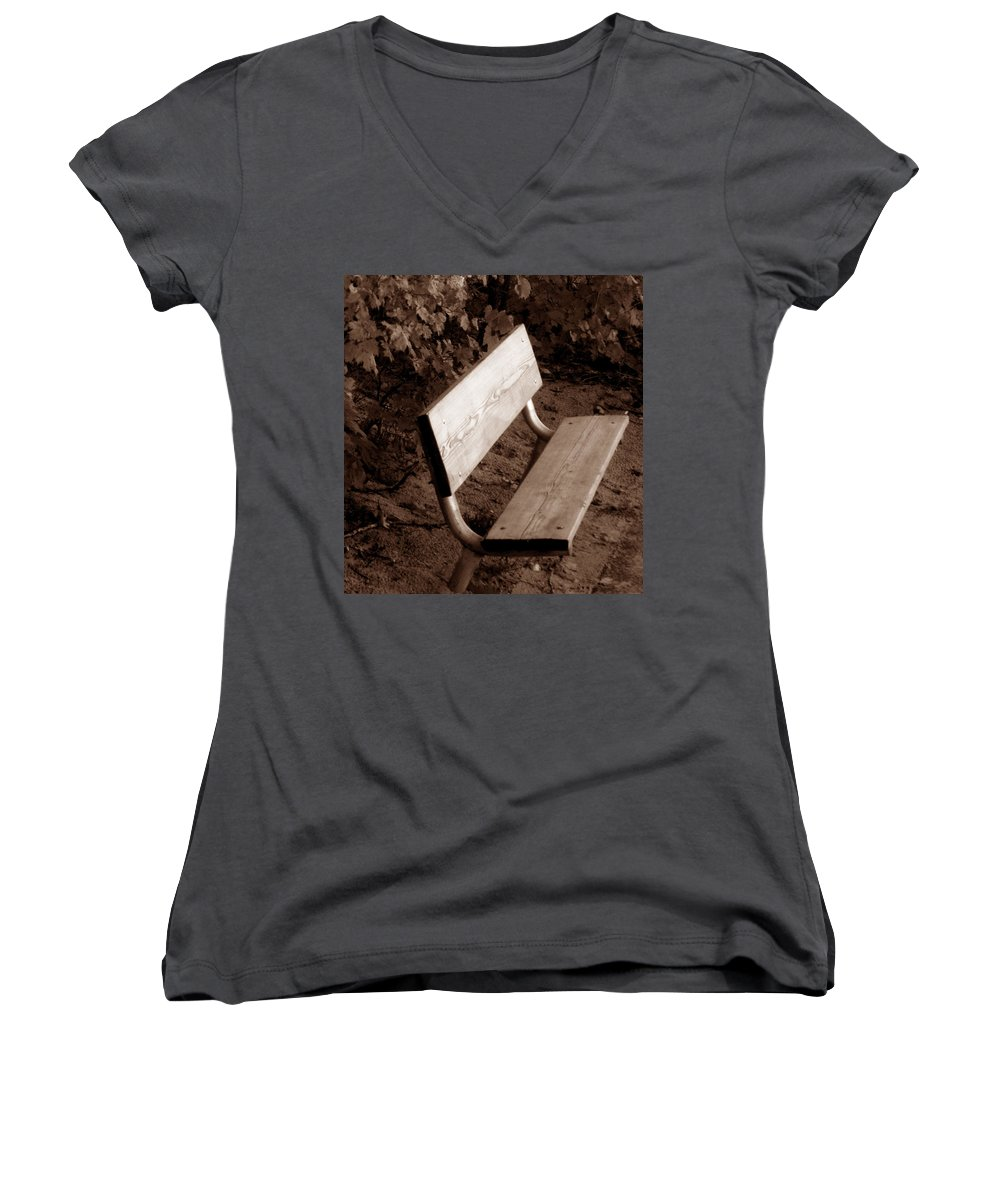 Lonliness Women's V-Neck (Athletic Fit) featuring the photograph Lonely by Wayne Potrafka