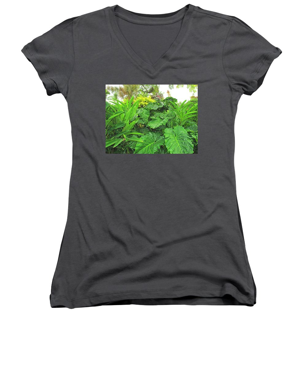 Vegetation Women's V-Neck T-Shirt featuring the photograph Lust Too by Ian MacDonald