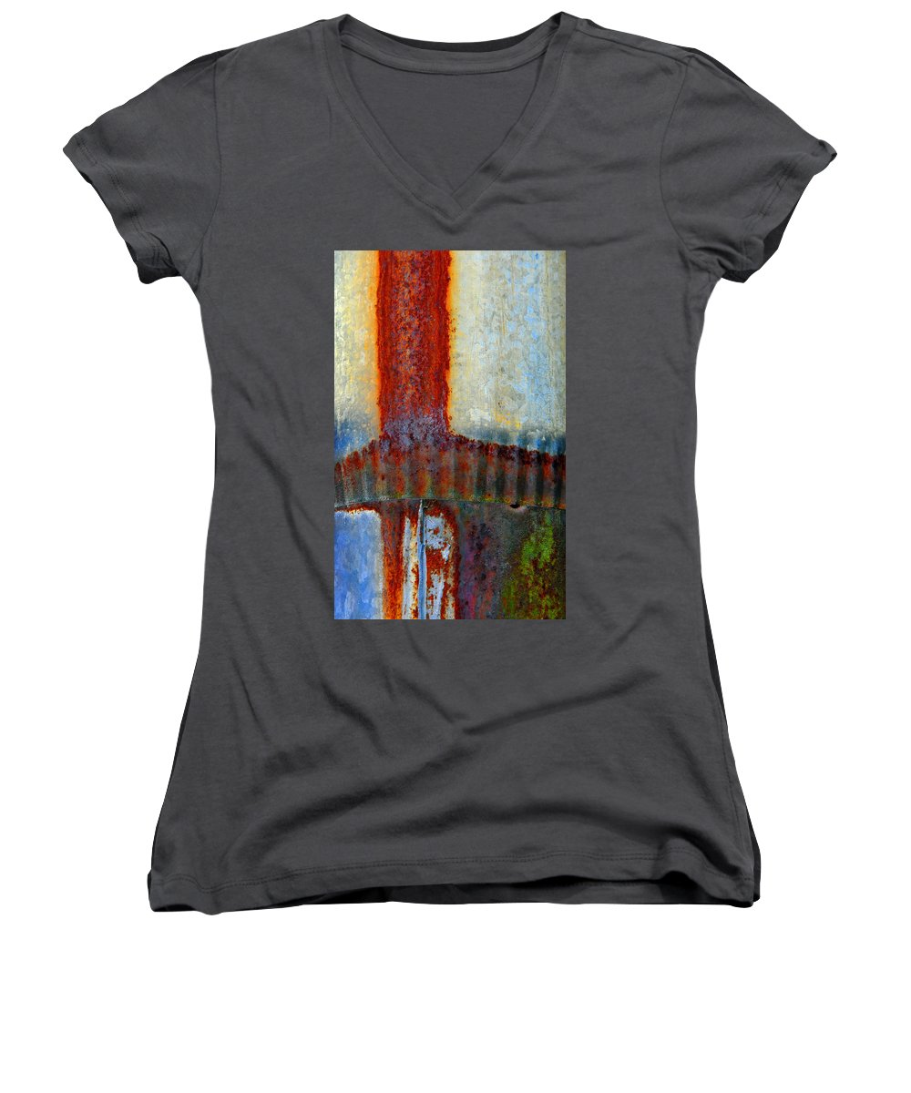 Skip Hunt Women's V-Neck (Athletic Fit) featuring the photograph Magma by Skip Hunt