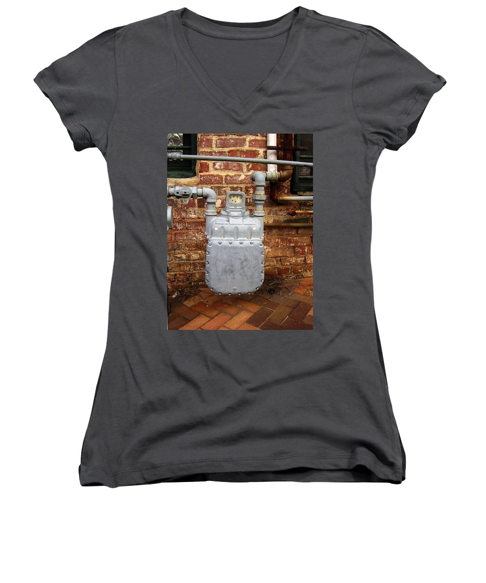 Meter Women's V-Neck T-Shirt featuring the photograph Meter II In Athens Ga by Flavia Westerwelle