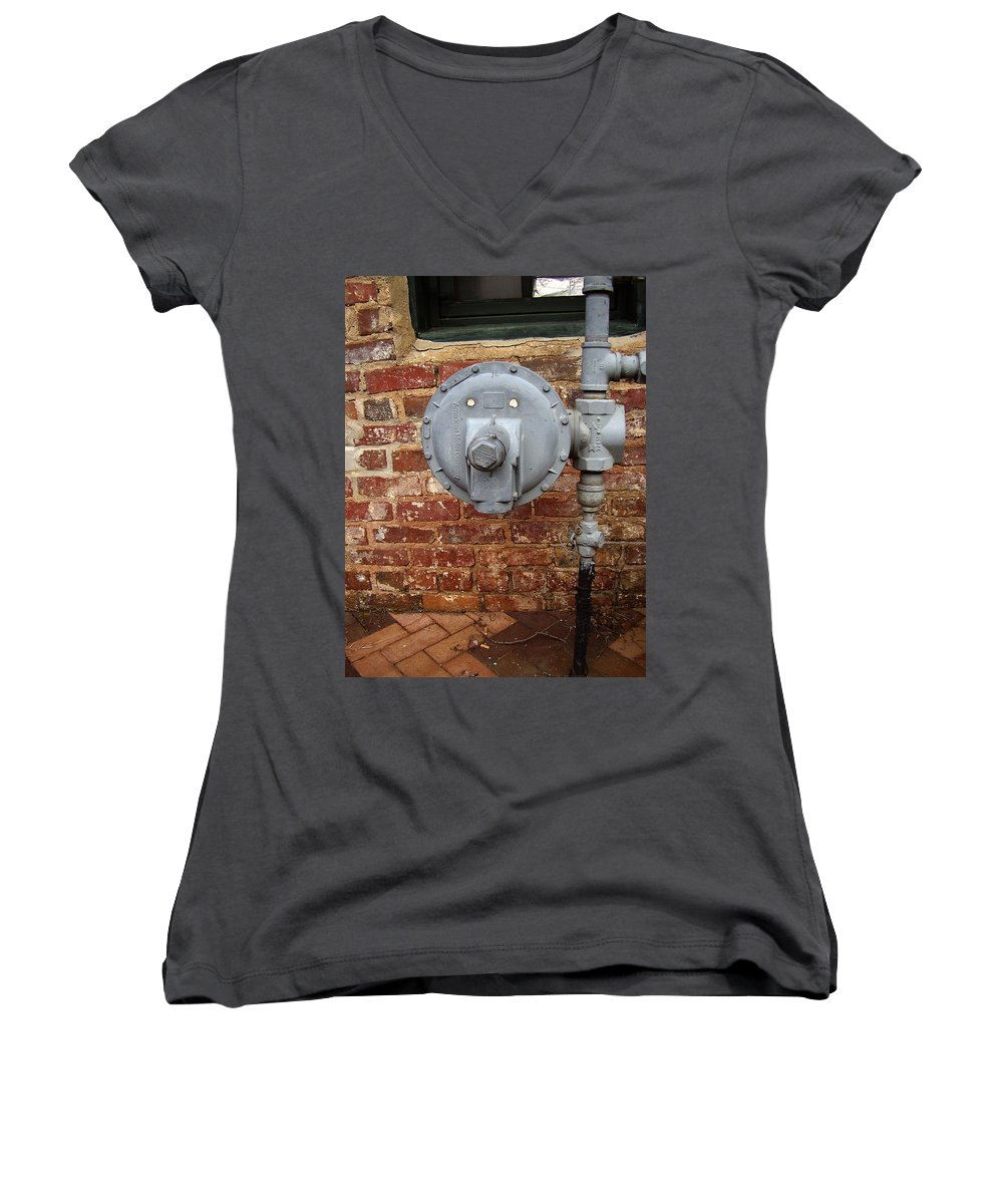 Meter Women's V-Neck T-Shirt featuring the photograph Meter In Athens Ga by Flavia Westerwelle