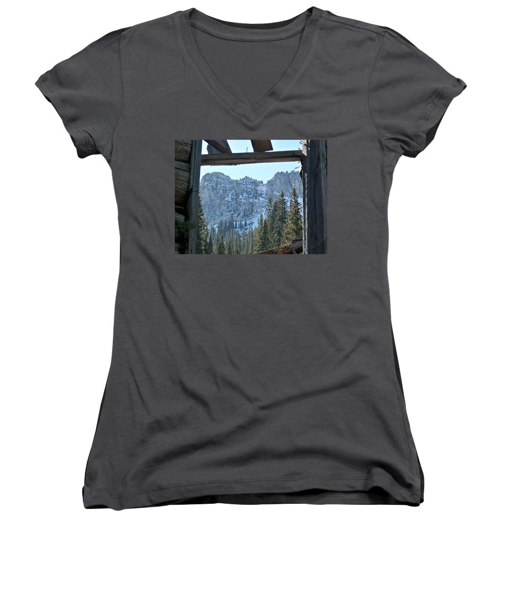 Mountain Women's V-Neck (Athletic Fit) featuring the photograph Miners Lost View by Michael Cuozzo