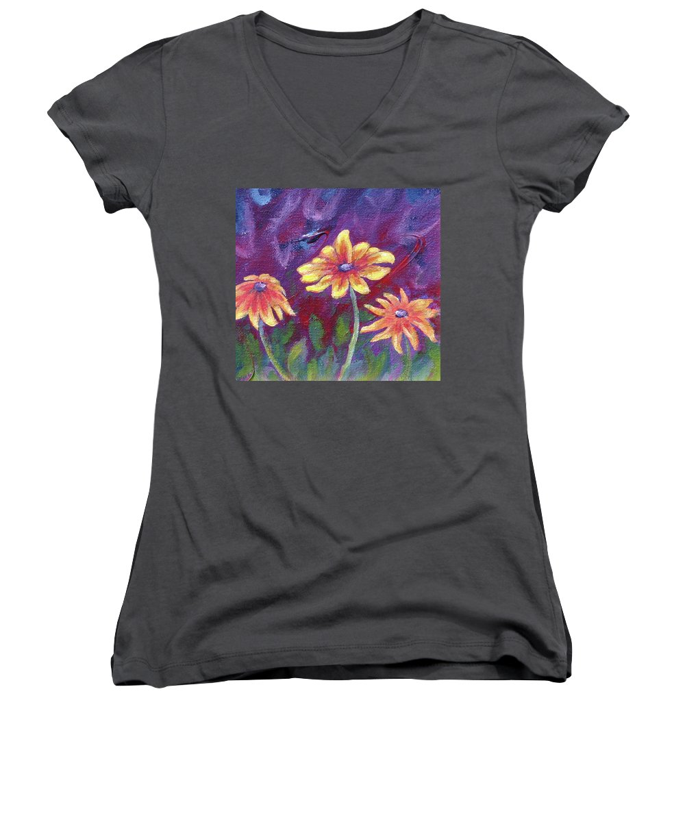 Small Acrylic Painting Women's V-Neck (Athletic Fit) featuring the painting Monet's Small Composition by Jennifer McDuffie