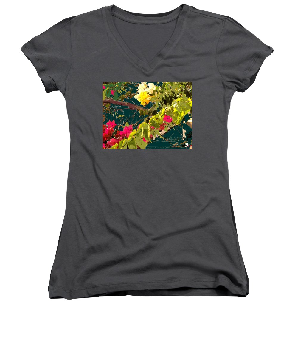 Women's V-Neck (Athletic Fit) featuring the photograph Monica by Ian MacDonald