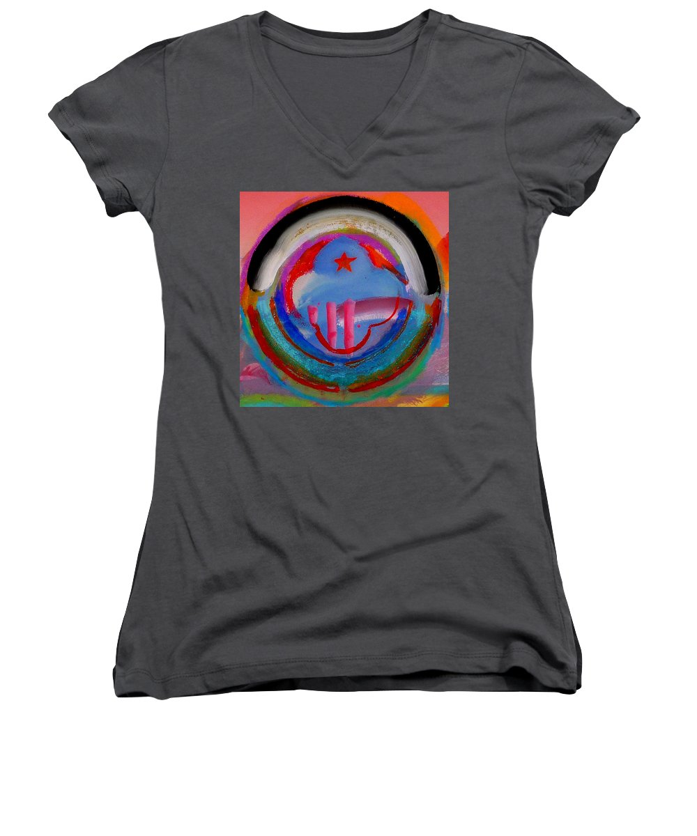 Logo Women's V-Neck (Athletic Fit) featuring the painting Morning Light by Charles Stuart