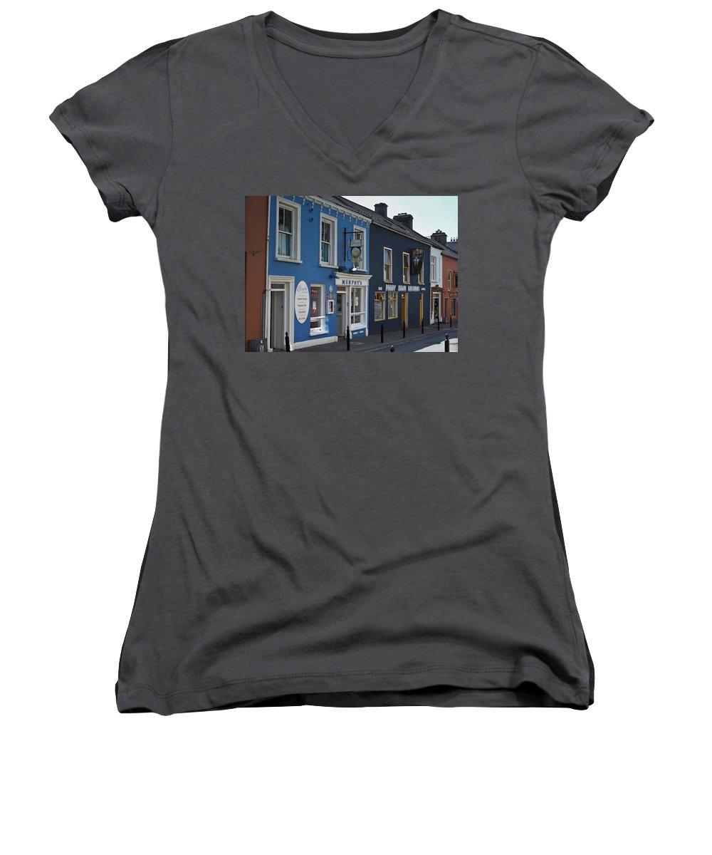 Irish Women's V-Neck T-Shirt featuring the photograph Murphys Ice Cream Dingle Ireland by Teresa Mucha